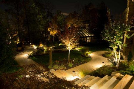 Outdoor lighting in Richmond patio